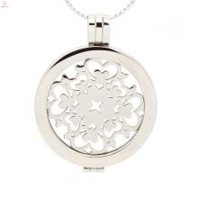 Popular coração oco moeda medalhão, amor para sempre jóias