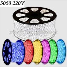 Ac110v 220 В Открытый украшение RGB 5050 гибкие светодиодные полосы