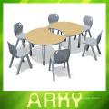 Table d'étudiants en plastique pour l'épissage de maternelle