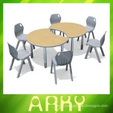 kindergarten splicing type plastic student table