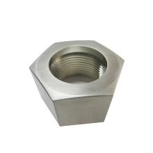 Custom high quality cnc lathe steel hex inner threaded bushing