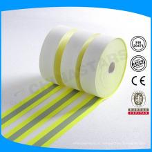 ISO 11612 флюоро-желтая или оранжевая огнестойкая отражающая ткань