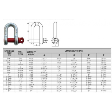 USScrew Pin Chain Shackle G210