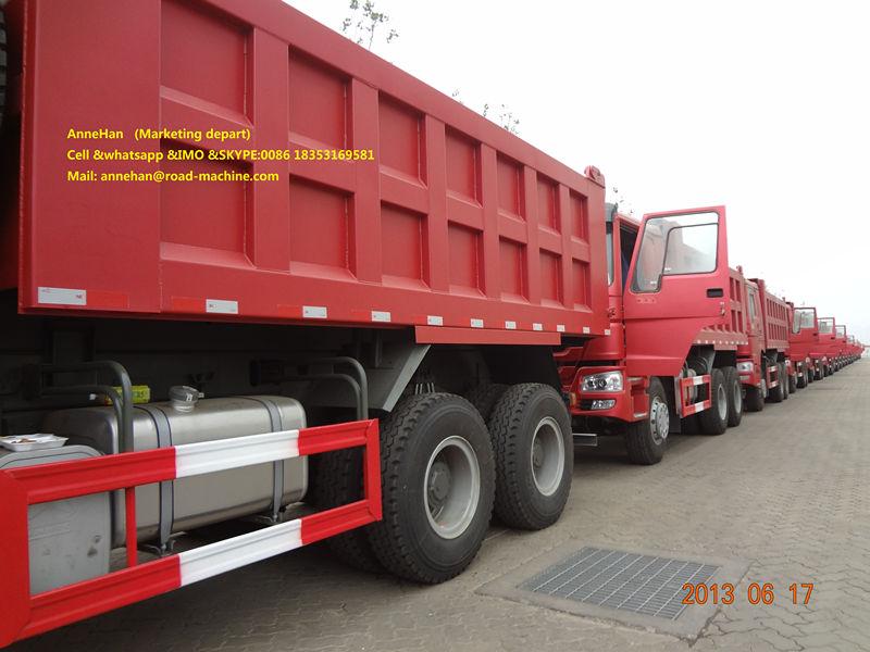 Red 18m3 Dump Truck Howo7 4