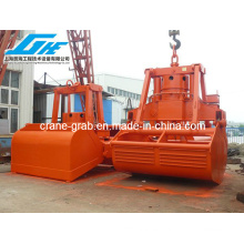 25t Electro Hidráulico Clamshell Grab para grúa de cubierta (SWL25T 6-12m3)