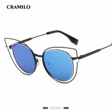 CS2247 Высокое качество Cat Солнцезащитные очки с полой оправой Sexy Vintage женщин Роскошные солнцезащитные очки