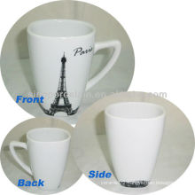 Paris City Design 11OZ Porcelain Square Coffee Mug For BS130601A