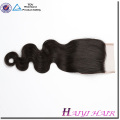 High Quality Real Remy Black Women Aliexpress Body Wave Virgin Hair Extension Top Swiss Lace Closure