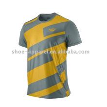 мужчины печатных круглый вырез T рубашка