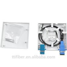 FTTH 2core Optische Faser Wandhalterung / Face Plate