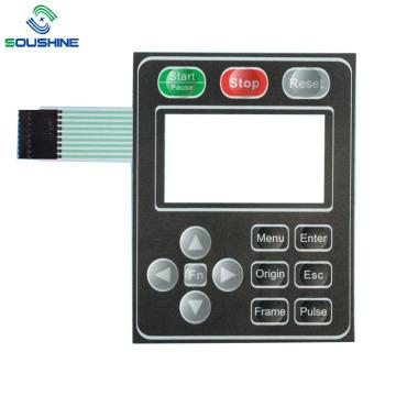 machine de sérigraphie Interrupteur à membrane de fenêtre transparente