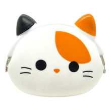Cat-shaped Silicone Coin Purse, Can't Slip-out of Pocket Because of Non-slip MaterialNew