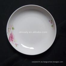 Plato de fruta de 8 pulgadas, plato de cena, plato hondo de cerámica