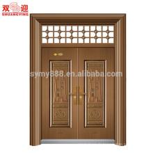 acier hommes porte design double porte feuille avec charnière de porte