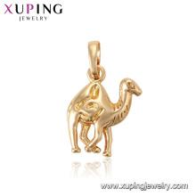 33549 xuping 18k banhado a ouro pingente de animal em forma de camelo