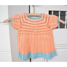 Vintage Crochet Baby Dress Peach Crochet Baby Clothes Size