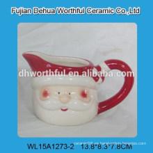 Taza de leche de cerámica de Papá Noel lindo diseño creativo para la Navidad