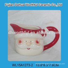 Creative design cute santa claus ceramic milk cup for christmas
