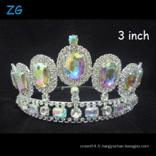 Shinning AB Couronne Beauty Queen Crown Wedding Tiara Pageant Crowns