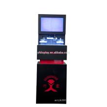 Présentoir de maquillage professionnel acrylique noir LED