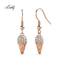 2021 Fashion Dessert Jewelry Trend Dangling Cone Ice Cream Hook Earrings for Girls