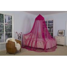 Mosquitera rosa cónica decorativa colorida corona