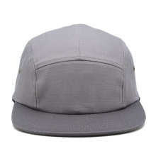 light grey simple color promotional custom new design flat brim 5 panel camp cap