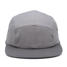 luz cinza simples cor promocional personalizado novo design plana borda 5 painel acampamento cap