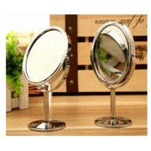 Promotional Metal Cosmetic Mirror, Toilet Glass Desktop Rotating Mirror 1: 2 Magnifying