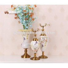 Factory supply2016 new designer mosaic flower glass vase for home decoration