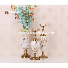 Factory supply2016 novo designer mosaico flor vaso de vidro para decoração de casa