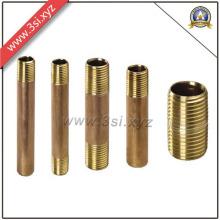 Venda quente qualidade ANSI B 16.11 rosca macho cobre barril mamilo (YZF-M561)