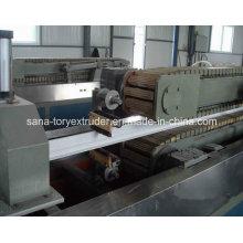 Chaîne de production en plastique d'extrusion de profil de la machine UPVC d'extrudeuse