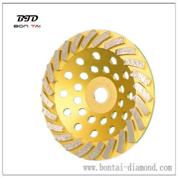 Coarse medium fine  Diamond grinding cup wheel with high efficiency