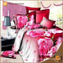 100%polyester microfiber 3D printed luxury Queen size beding set made in Hebei
