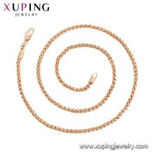 44789 xuping fabricante de jóias por atacado China 18 k colar de correntes de ouro banhado