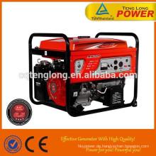 Gaosline/Benzin Kraftstoff 6.5kva 3-Phasen Generator set für Verkauf