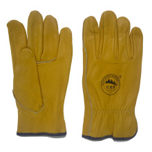 Cow Grain Leather Working Driving Gloves for Drivers