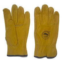 Cuero de vaca guantes de trabajo de conducción para los conductores