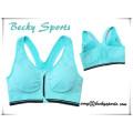 Sujetador deportivo Sportwear de la señora atractiva, top de la yoga de las mujeres con la cremallera en CF