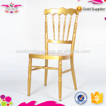 Brand new Qindao Sinofur banquet with conventional metal napoleon chair