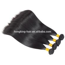Prix doux de qualité supérieure prix 9A brésilien remy stright curl extensions de cheveux fond épais