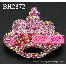Broches de la manera cristalina rosada