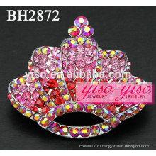Розовые хрустальные модные броши