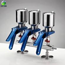 Filtro de solvente de acero inoxidable de 3 ramificaciones Equipo de filtración de solvente de vacío con filtro de aspiración múltiple