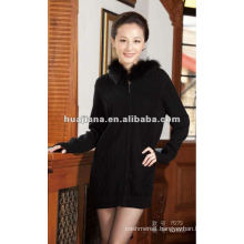 Luxury women long Cashmere sweater coat for winter