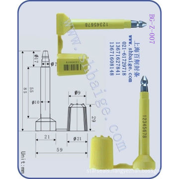 cargo container seal BG-Z-007