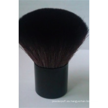 Cepillo de cara de cabello de cabra Kabuki de alta calidad de etiqueta privada