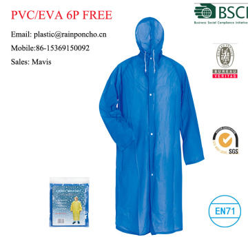 Impermeable de moda pvc amarillo largo impermeable / impermeable