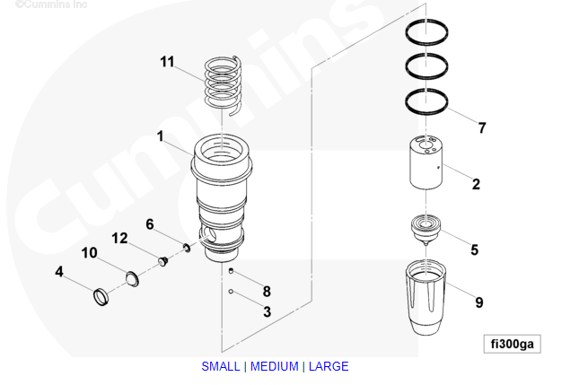 cummins diesel injector oil cup 3000798 china manufacturer